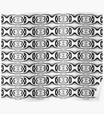 Figure 8 Black and White Pattern Poster