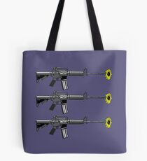 Gun with daisy  Tote Bag