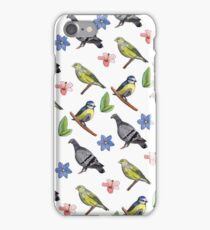 Watercolour Garden Birds Design / Illustration iPhone Case/Skin