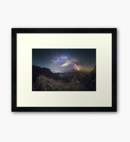 Heavenly Shark Framed Print