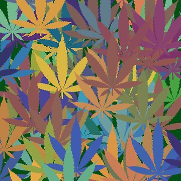 Marijuana Cannabis Weed Pot Abstract by MarijuanaTshirt