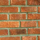 Red terracotta bricks by Arve Bettum