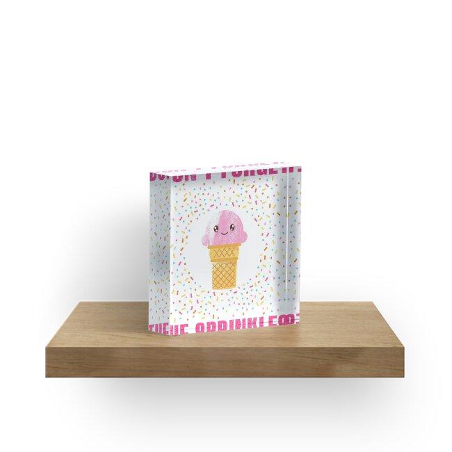 Vergessen Sie nicht das Sprinkles Kawaii Eiscreme-Kegel-buntes modisches grafisches T-Shirt von DesIndie