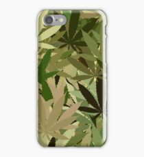 Marijuana Cannabis Weed Pot Camouflage  iPhone Case/Skin