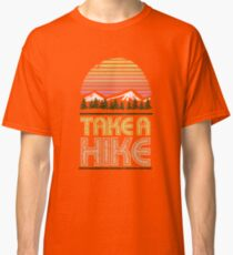 Take A Hike Outdoor Graphic Tee Shirt Mountain Trees Sunset Classic T-Shirt