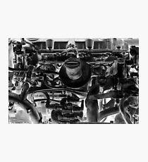 Car engine Photographic Print
