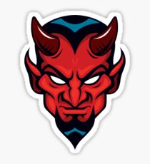 Red Devil Head Sticker