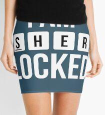 I am SHER locked Mini Skirt