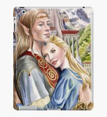 Caught in the moment - elf and human romance iPad Case/Skin