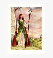 On the wind - medieval fantasy Art Print