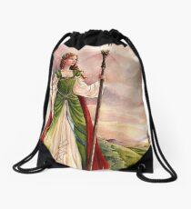 On the wind - medieval fantasy Drawstring Bag