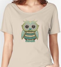 Star Eye Owl - Green 2 Women's Relaxed Fit T-Shirt