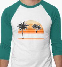Hawaii Beach T-Shirt Hawaiian Paradise Beach Sun Sand TShirt Men's Baseball ¾ T-Shirt