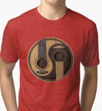 Bass Guitar T Shirt - Music Pulse, Notes, Clef, Frequency, Wave, Sound, Dance Tri-blend T-Shirt