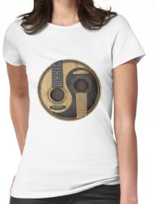 Bass Guitar T Shirt - Music Pulse, Notes, Clef, Frequency, Wave, Sound, Dance Womens Fitted T-Shirt