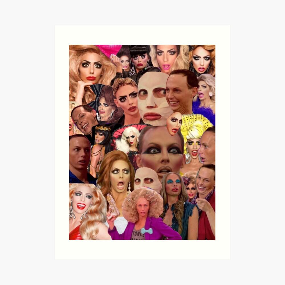 Alyssa Edwards-Collage Kunstdruck