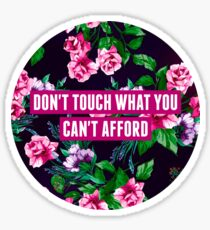 Don't Touch What You Can't Afford Sticker