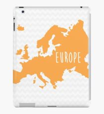 Europe Chevron Continent Series iPad Case/Skin
