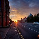 Sunset On Queen's Road by Ruski