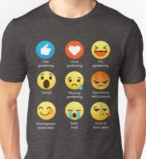 I Love Gardening Gardeners Off Grid Funny Emoji Emoticon Graphic Tee Shirt  T-Shirt