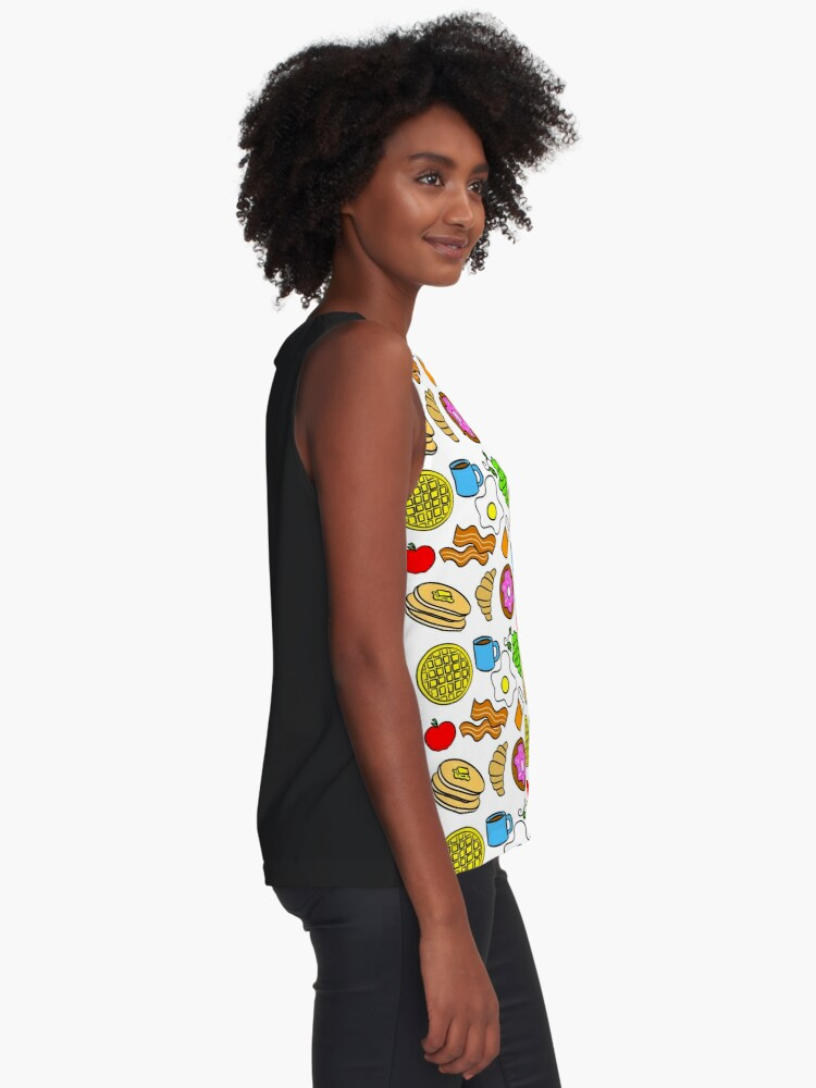 Alternate view of Colorful Breakfast Foods Contrast Tank