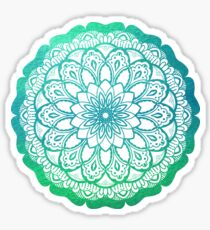 Mandala in Turquoise Green Watercolor Sticker