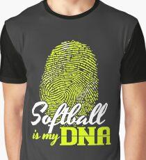Softball is my DNA T Shirt Graphic T-Shirt
