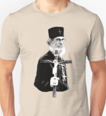 Brother Nathanael: Holding the Cross Unisex T-Shirt
