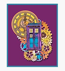 Colorful TARDIS Doctor Who Art Photographic Print