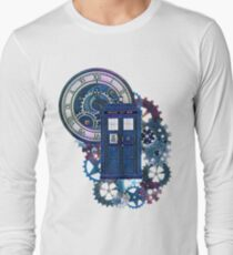 Time and Space Doctor Who inspired Art Long Sleeve T-Shirt