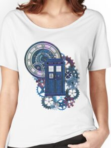 Time and Space Doctor Who inspired Art Women's Relaxed Fit T-Shirt