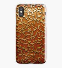 Arabic gold flower iPhone Case/Skin