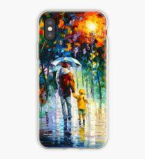 RAINY WALK WITH DADDY - Leonid Afremov iPhone Case
