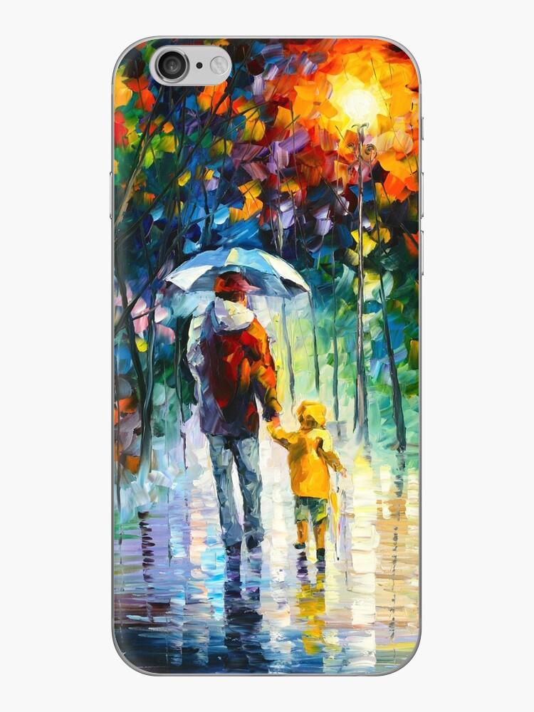 RAINY WALK WITH DADDY - Leonid Afremov by Leonid Afremov