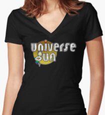 Universe Gun Gold Women's Fitted V-Neck T-Shirt