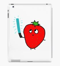 Strawberry and the lightsaber iPad Case/Skin