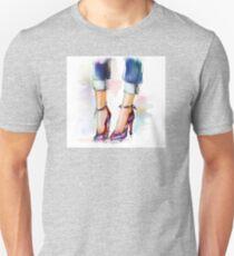 Shoes. Hand painted fashion illustration  Unisex T-Shirt