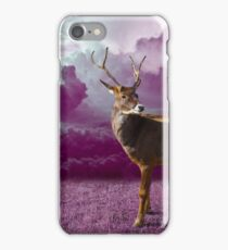 Purple Nature Photography - Reindeer iPhone Case/Skin