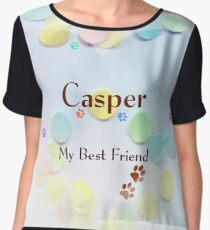 Casper - my best friend Women's Chiffon Top