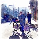 Boy with bicycle in Aleppo by Giuseppe Cocco
