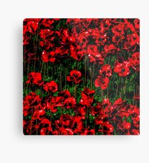Poppy fields of remembrance for WW1 at Tower of London - square photo Metal Print