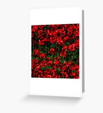 Poppy fields of remembrance for WW1 at Tower of London - square photo Greeting Card