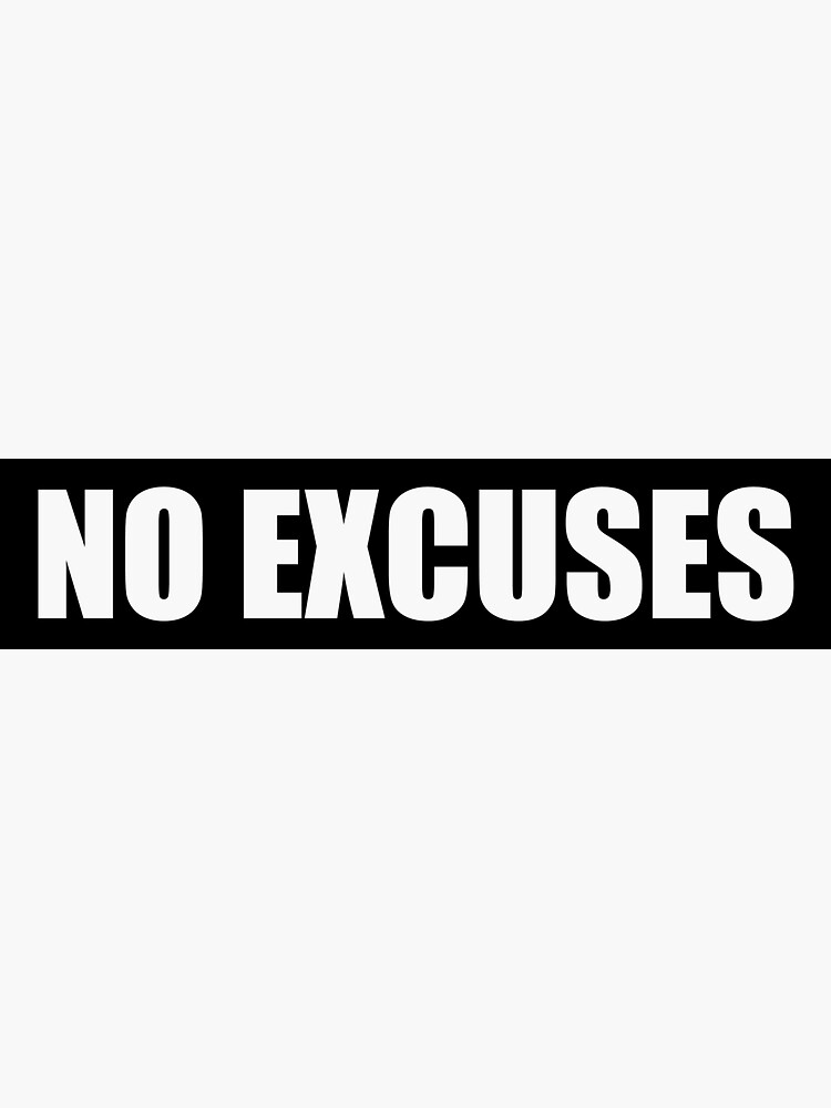 Sin excusas - Gym Quote de maniacfitness