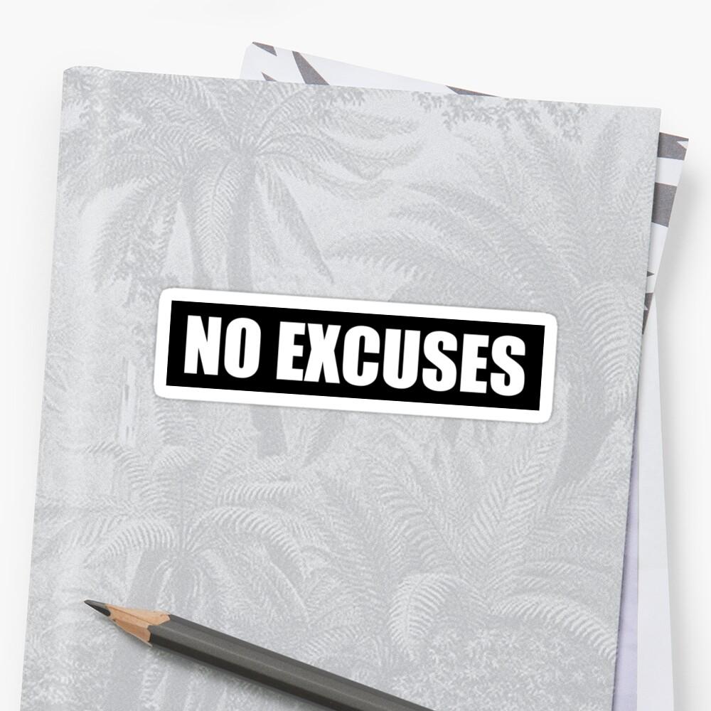 Sin excusas - Gym Quote Pegatinas