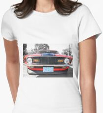Full Frontal - 1970 Mach 1 Mustang Women's Fitted T-Shirt