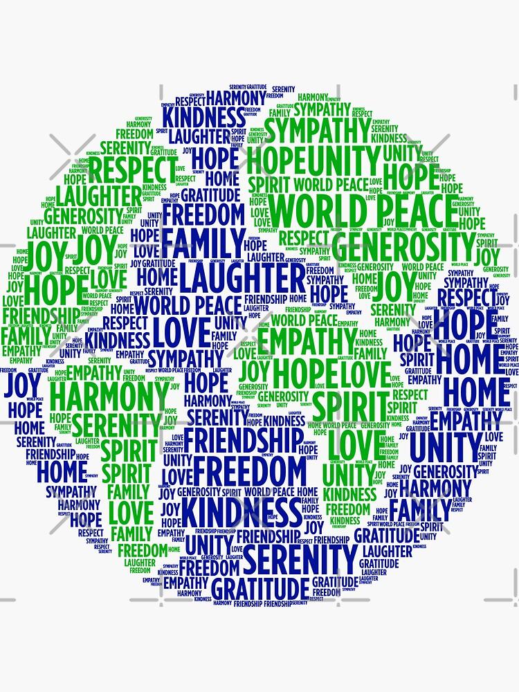Nube de palabras de paz mundial de fatamyfan1