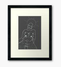 grey godess Framed Print