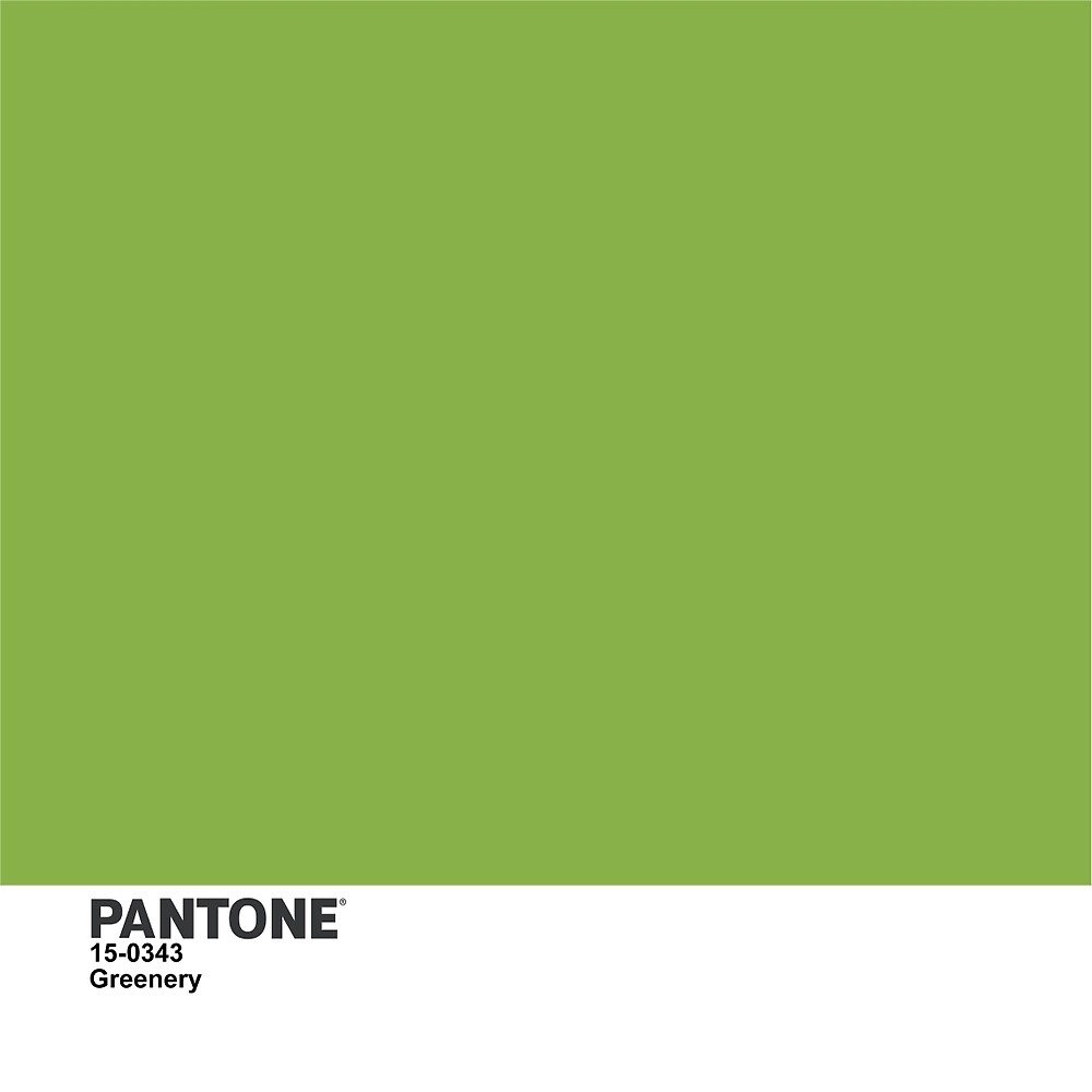 Pantone 2017 Color Of The Year Greenery By Kirei