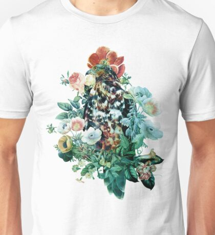 Bird in Flowers Unisex T-Shirt