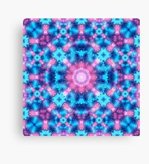 Nebula Energy Matrix Mandala Canvas Print